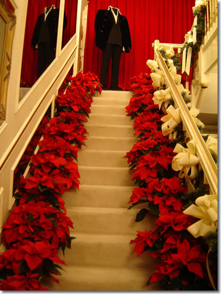 The stairs to Elvis' private private residence. Photo by Ester, an Elvis fan from Argentina.