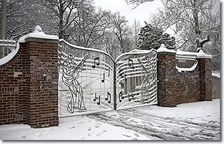 The Graceland Musical Gates.